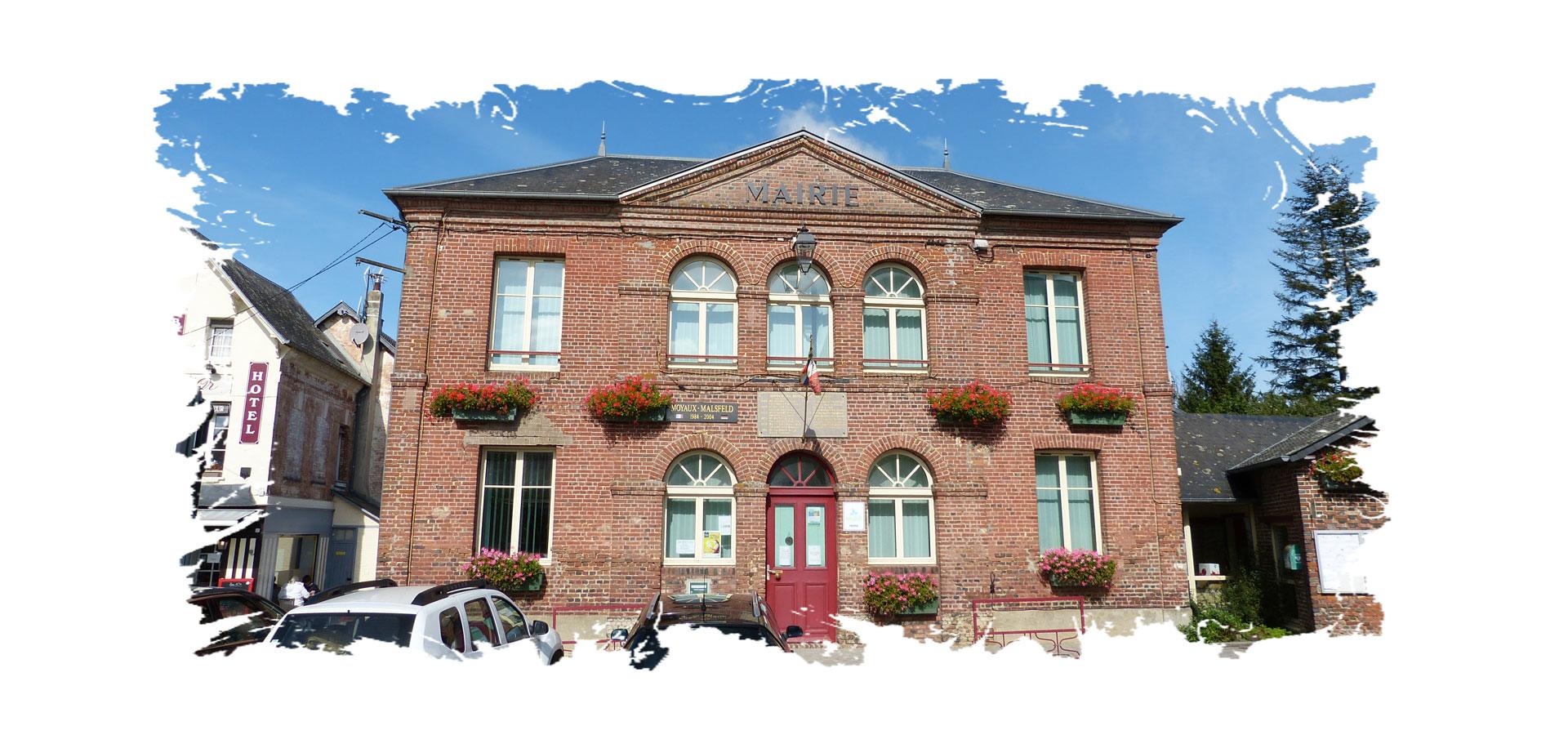 La mairie de Moyaux
